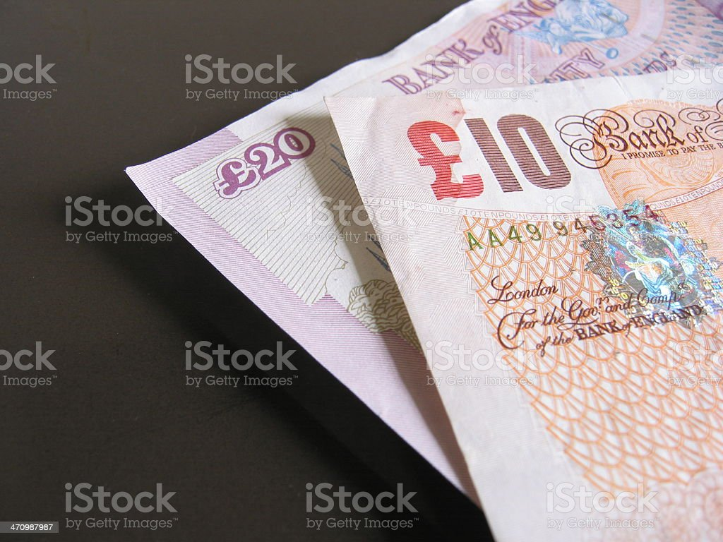 Pounds Sterling royalty-free stock photo