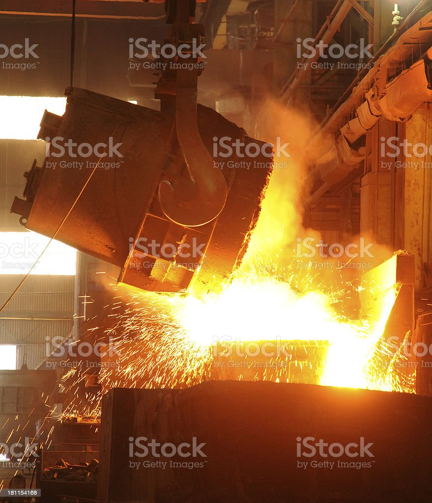 Pour out iron water royalty-free stock photo