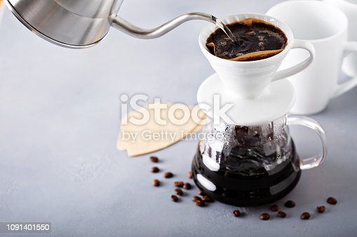istock Pour over coffee being made 1091401550