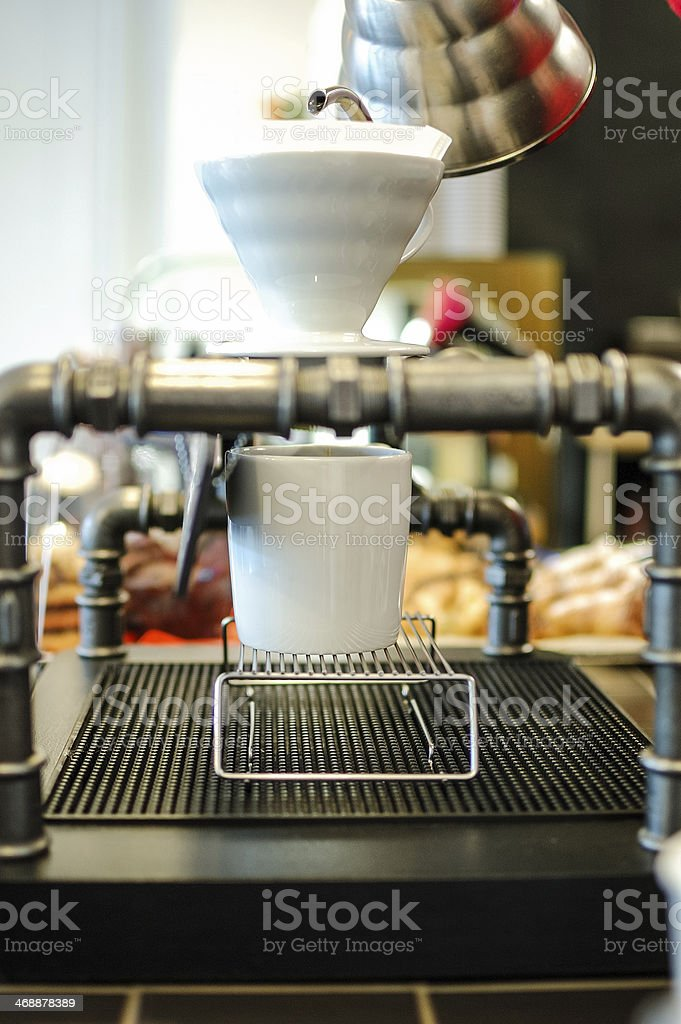 Pour over coffee stock photo