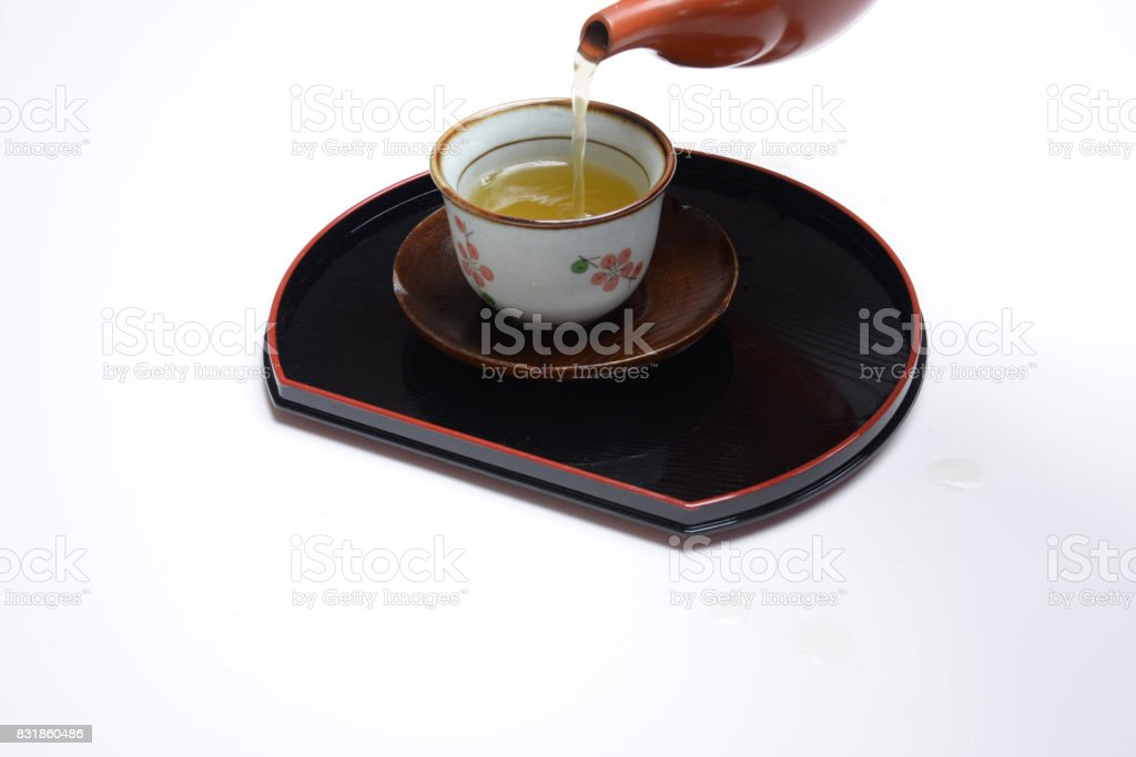 Pour tea stock photo