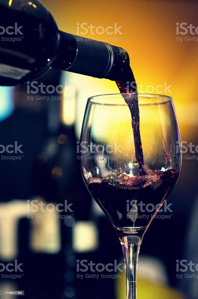 Pour the Wine royalty-free stock photo