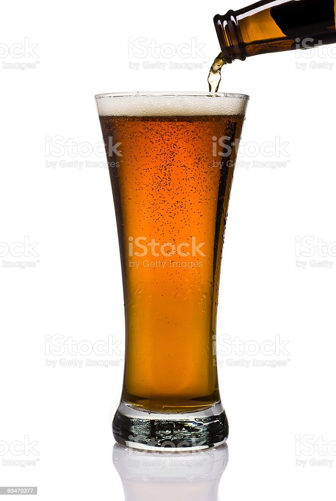 Poured Beer stock photo
