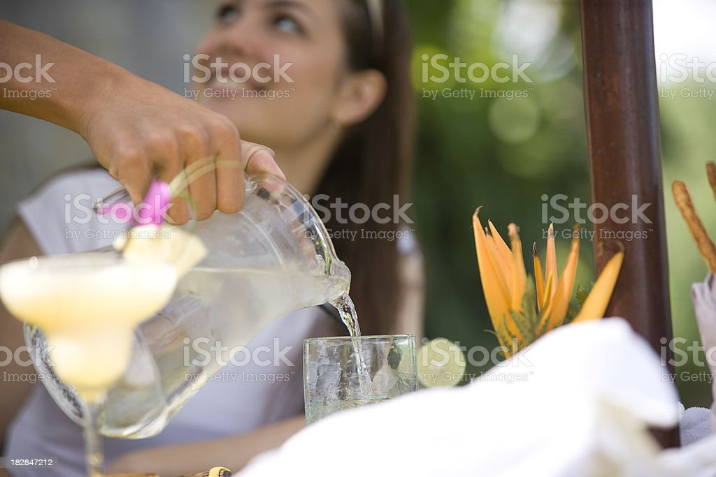 Pourinf water royalty-free stock photo