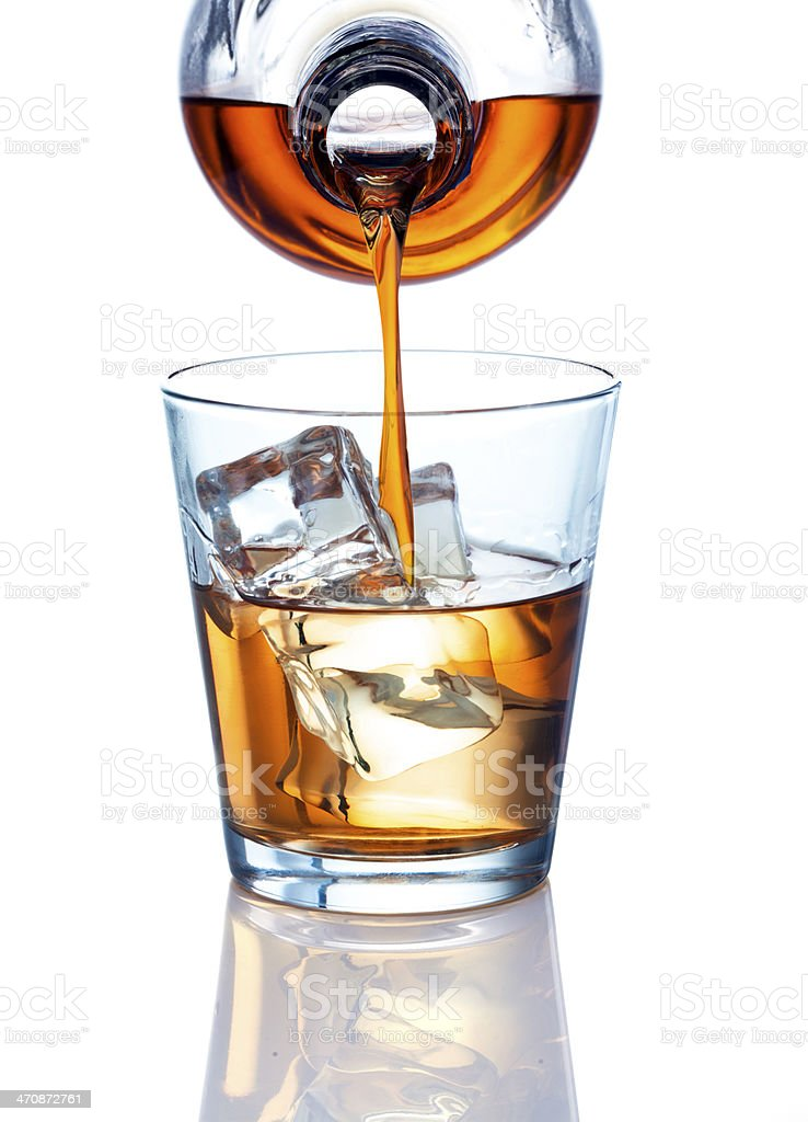 Pouring a Drink stock photo