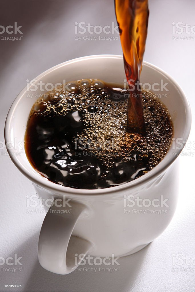 Pouring a Fresh Coffee stock photo