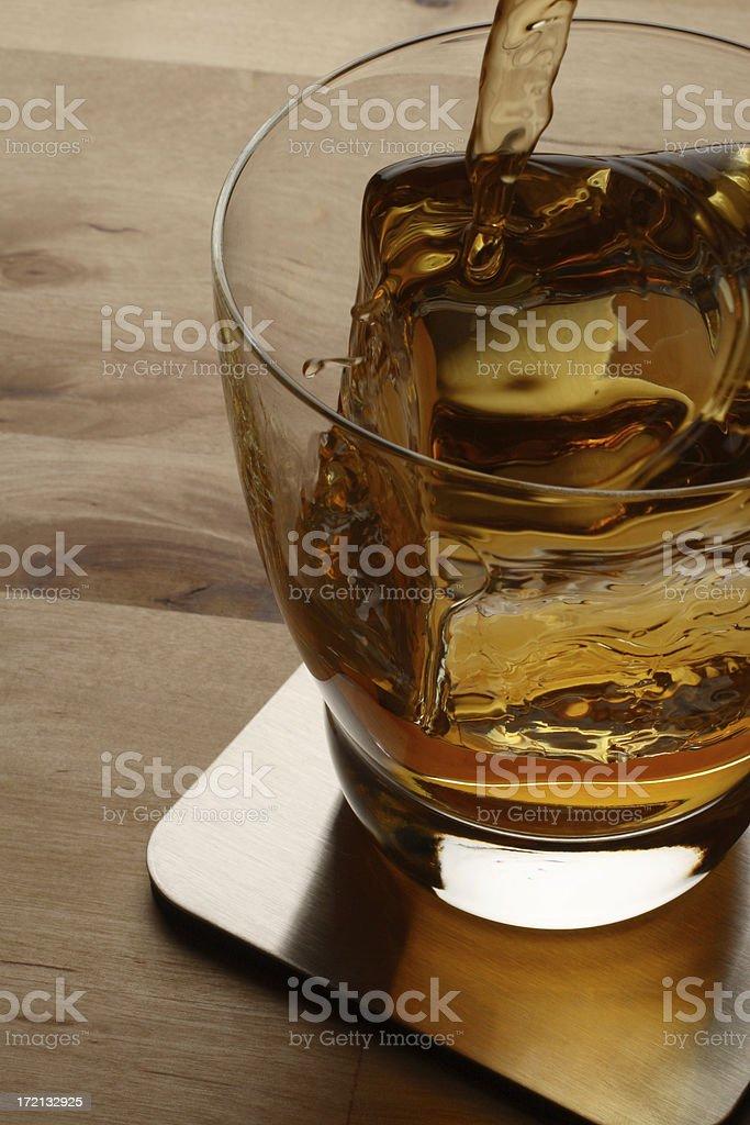 Pouring A Scotch royalty-free stock photo