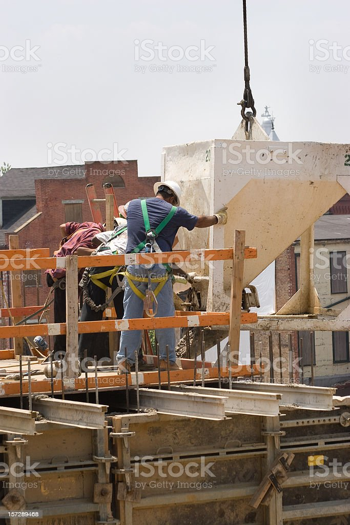 Pouring Cement royalty-free stock photo