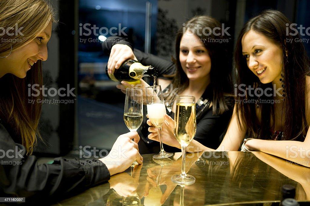 Pouring champagne XXXL royalty-free stock photo