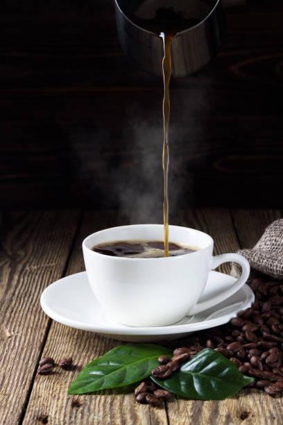 주둥이 커피 컵 - coffee 뉴스 사진 이미지