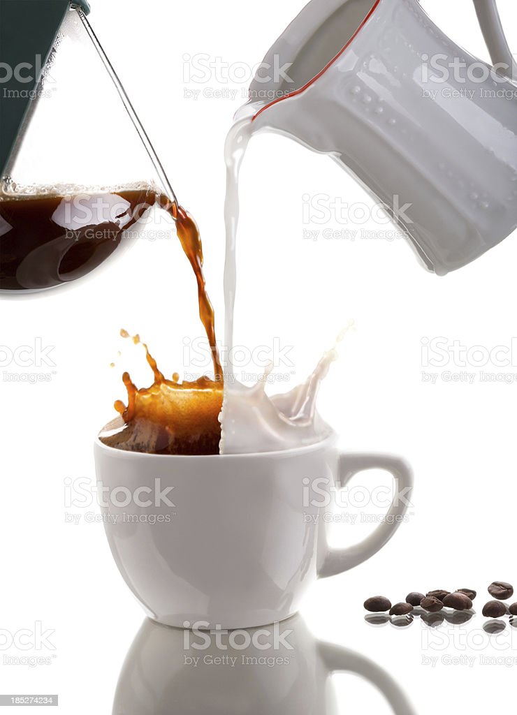 Pouring coffee stock photo