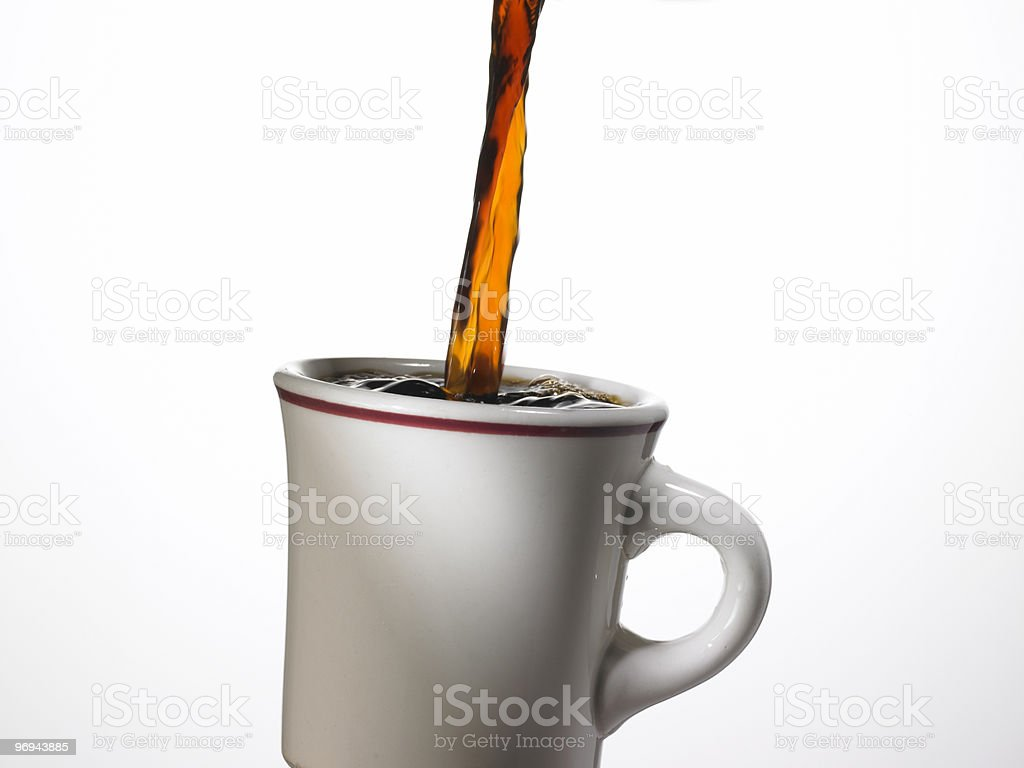 Pouring Coffee royalty-free stock photo