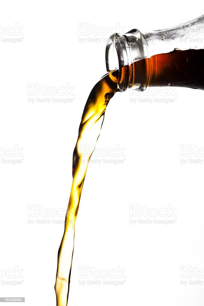 pouring cola royalty-free stock photo