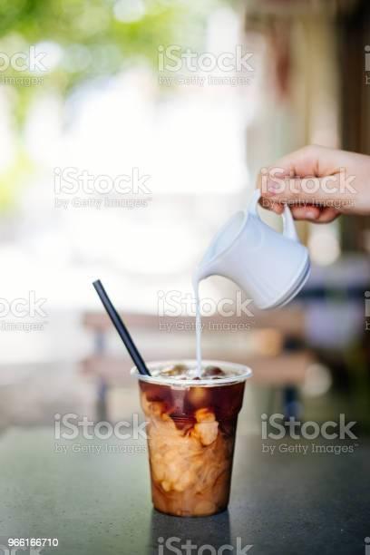 Sahne In Cold Brew Coffee Stockfoto und mehr Bilder von 2017