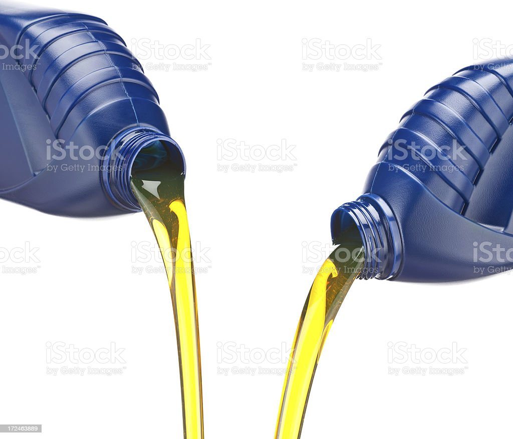Pouring Engine Oil royalty-free stock photo
