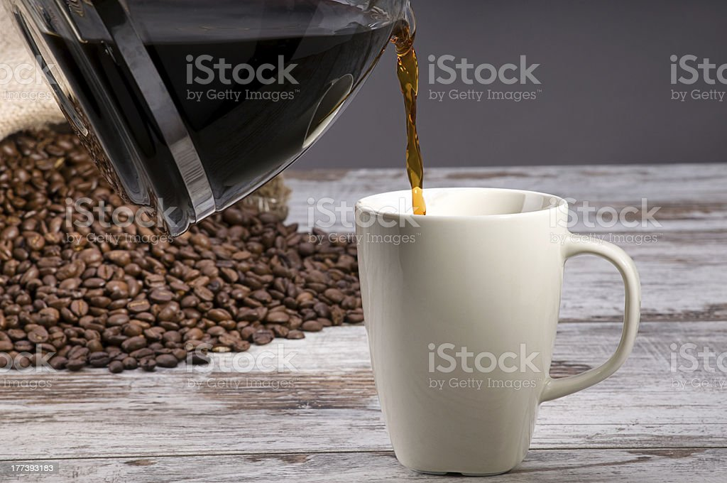 Pouring Filter Coffee royalty-free stock photo