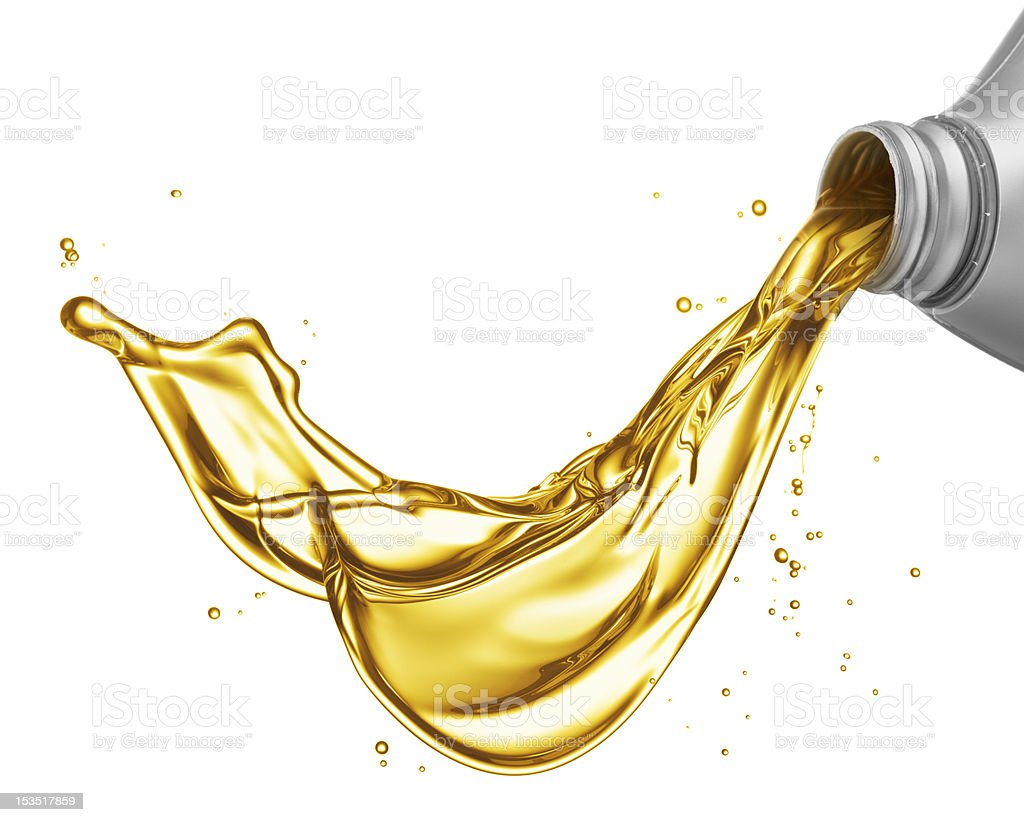pouring oil royalty-free stock photo