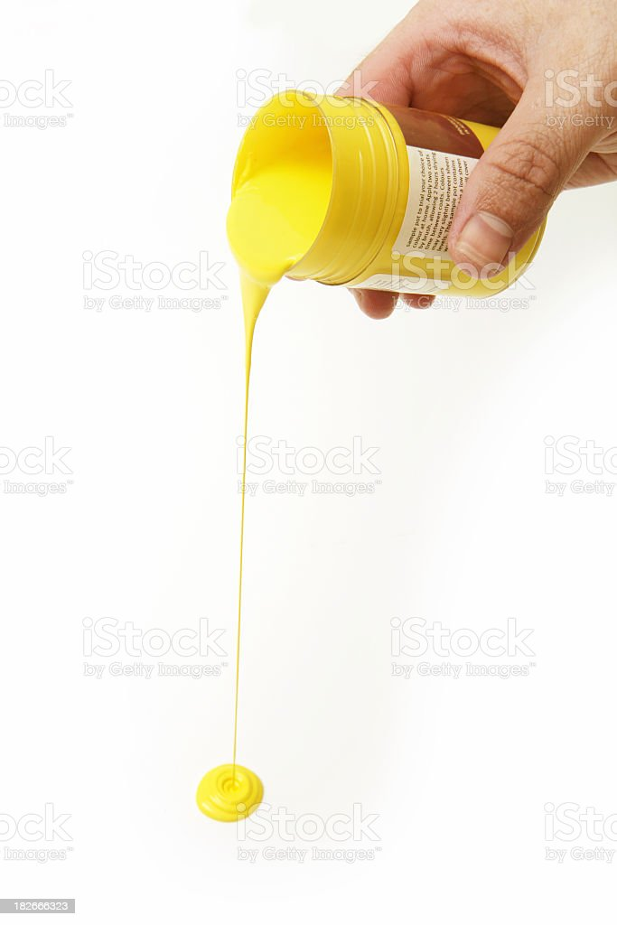 Pouring Paint stock photo