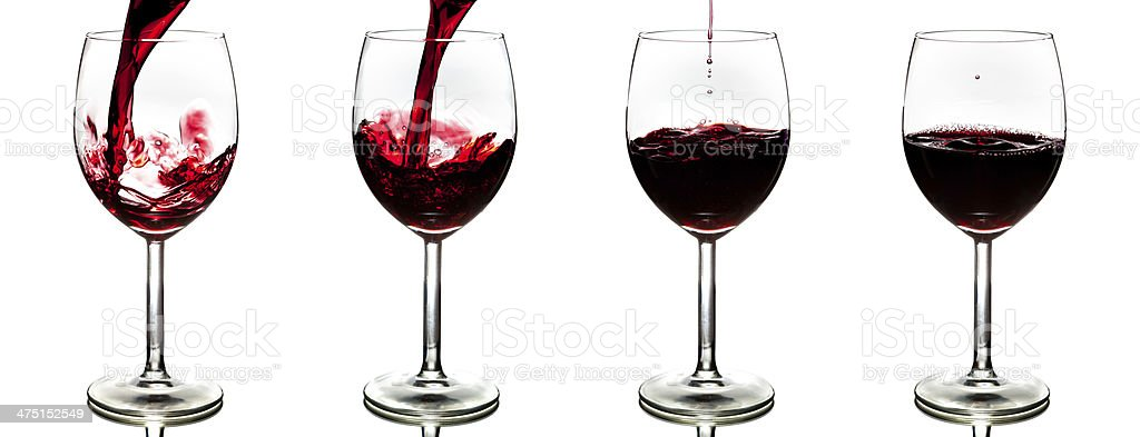 pouring red wine isolated royalty-free stock photo