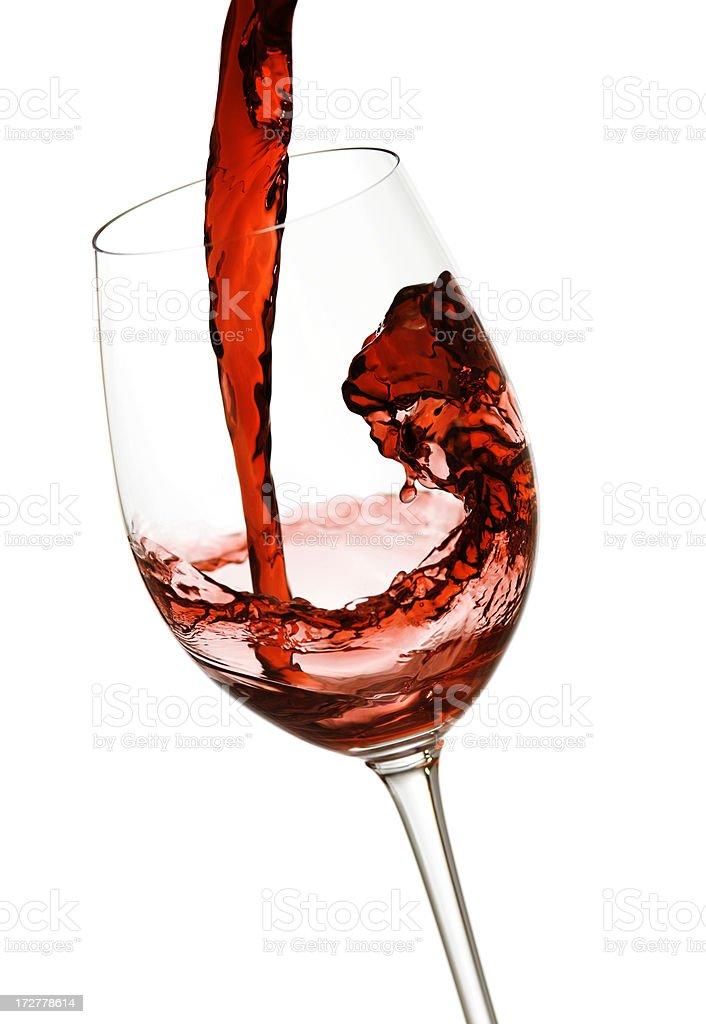 Gießen Rotwein - Lizenzfrei Alkoholisches Getränk Stock-Foto