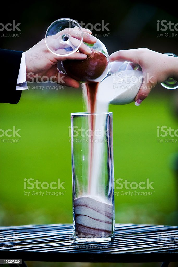 Pouring Sand royalty-free stock photo