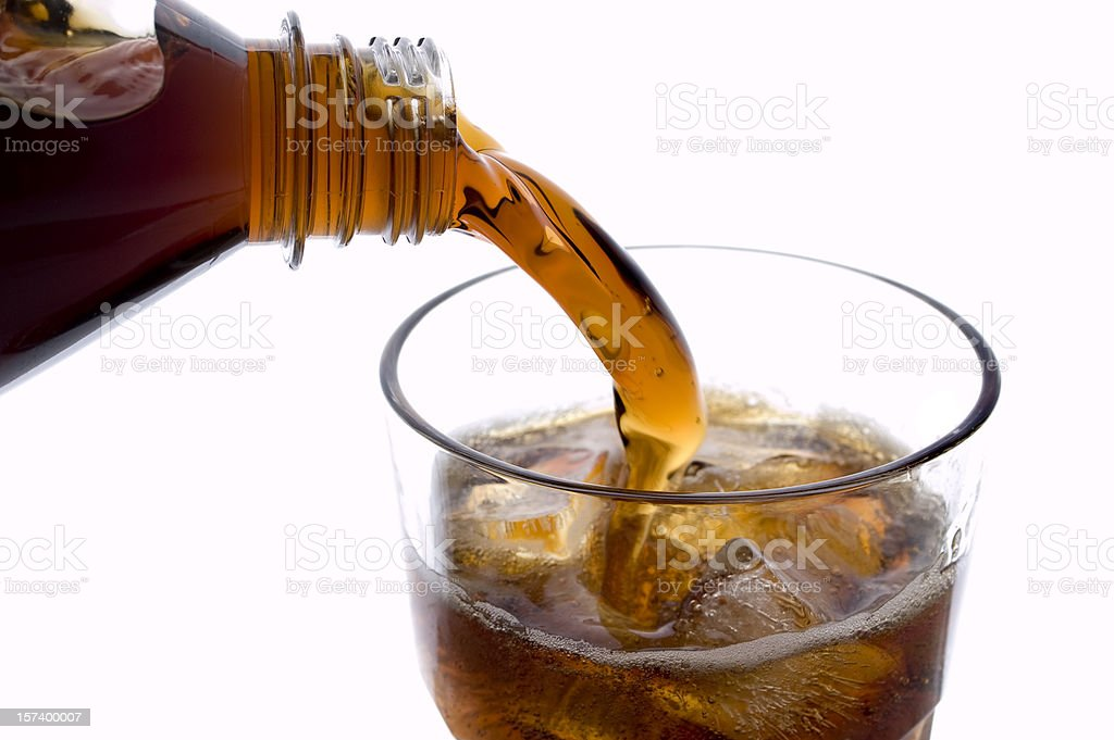 Pouring Soda royalty-free stock photo
