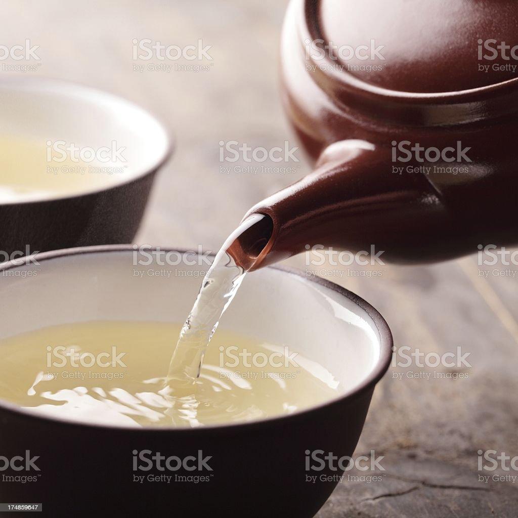 Pouring tea - detail - Royalty-free Bowl Stock Photo