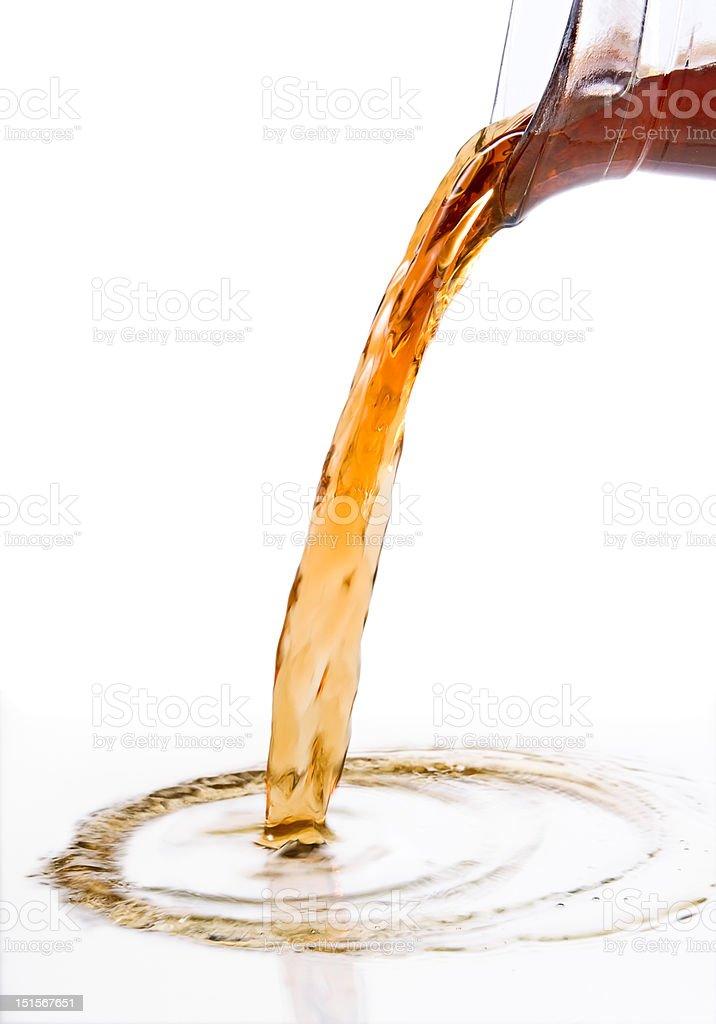 pouring tea royalty-free stock photo