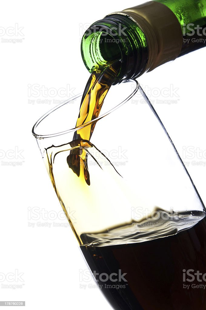 Pouring unusual beverage royalty-free stock photo