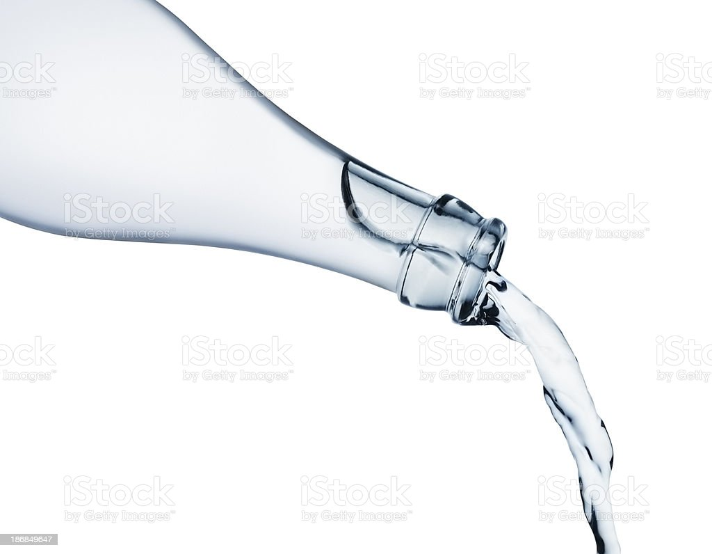 Pouring water from bottle royalty-free stock photo