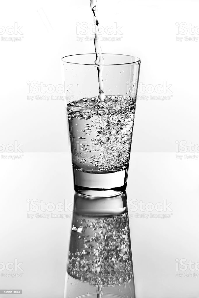 Pouring water splash royalty-free stock photo