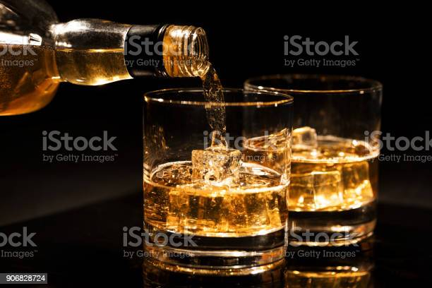 Pouring whiskey into a glass with ice cubes on black background picture id906828724?b=1&k=6&m=906828724&s=612x612&h=6cw5ddv7x64mcndblqsf1oiwpvf3rnfalj0h xlokmk=