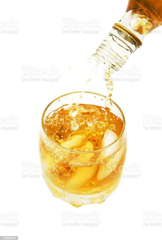 pouring whiskey royalty-free stock photo