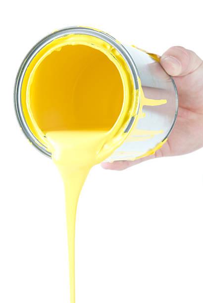 Pouring Yellow stock photo