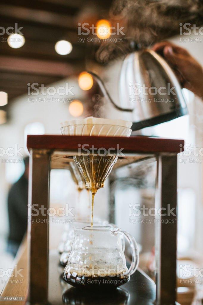 Pourover Coffee Preparation stock photo