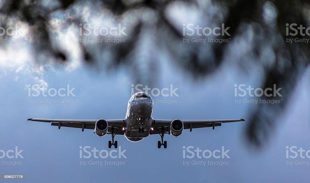 O pouso da aeronave - foto de acervo