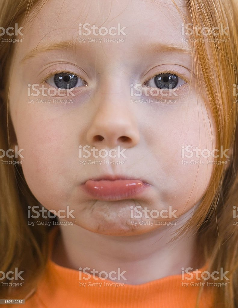 Pouting Little Girl royalty-free stock photo