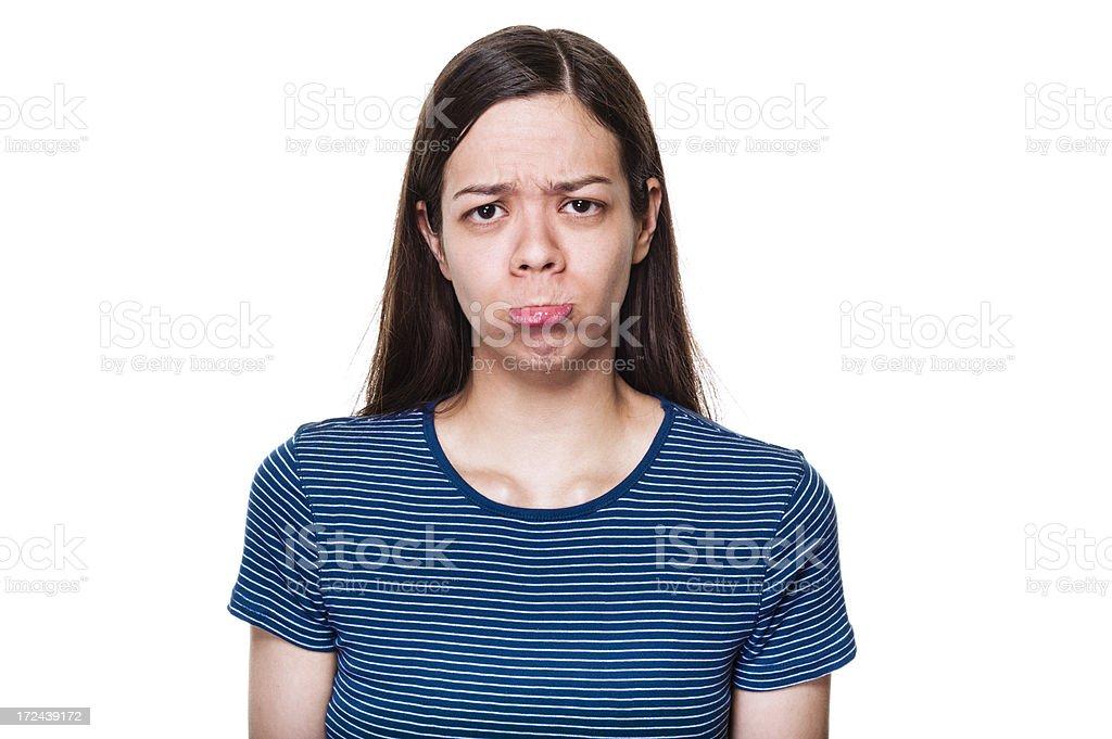 Pouting Woman royalty-free stock photo