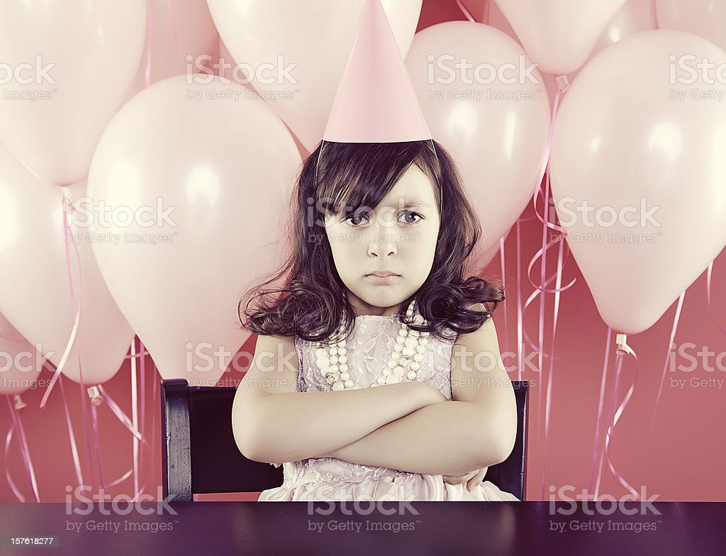 Pouting Young Girl stock photo
