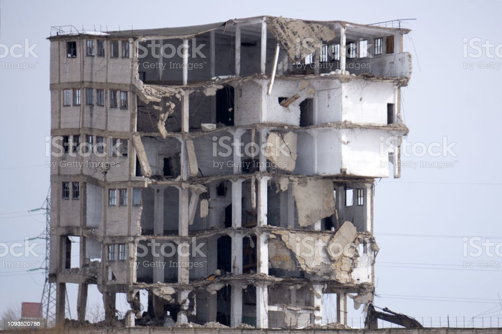 Poverty and ghetto House in bad condition looked . stock photo