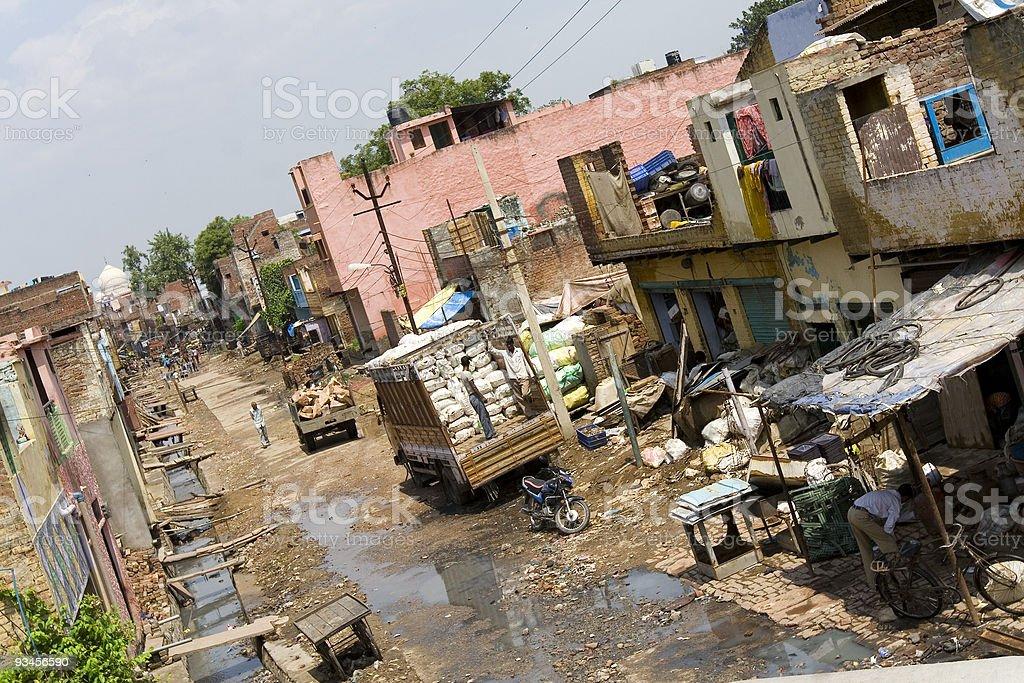 poverty and wealth - Taj Mahal / India royalty-free stock photo
