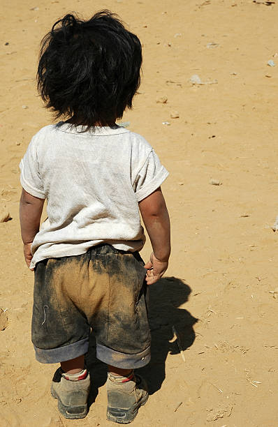 Poverty Child stock photo