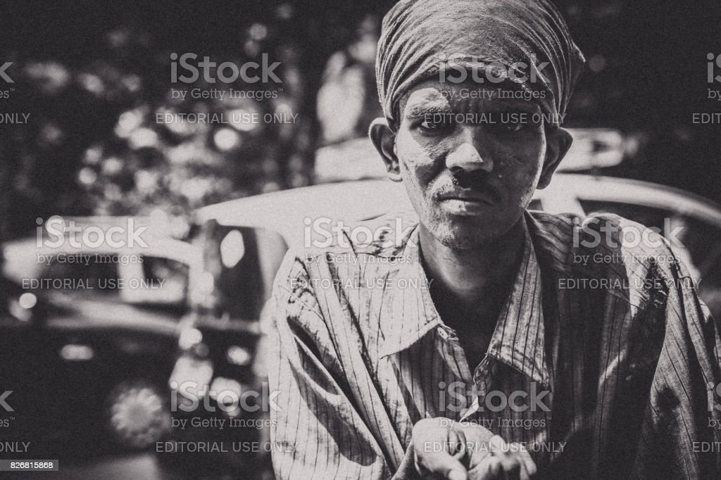 Poverty in india is a grave social issue stock photo
