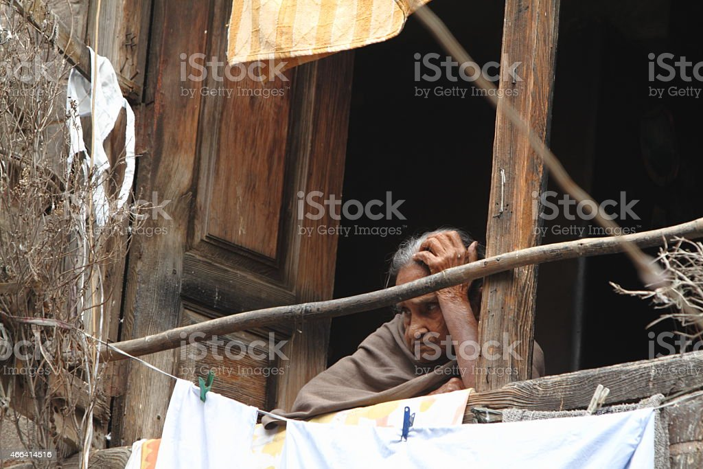 Armut in Indien stock photo