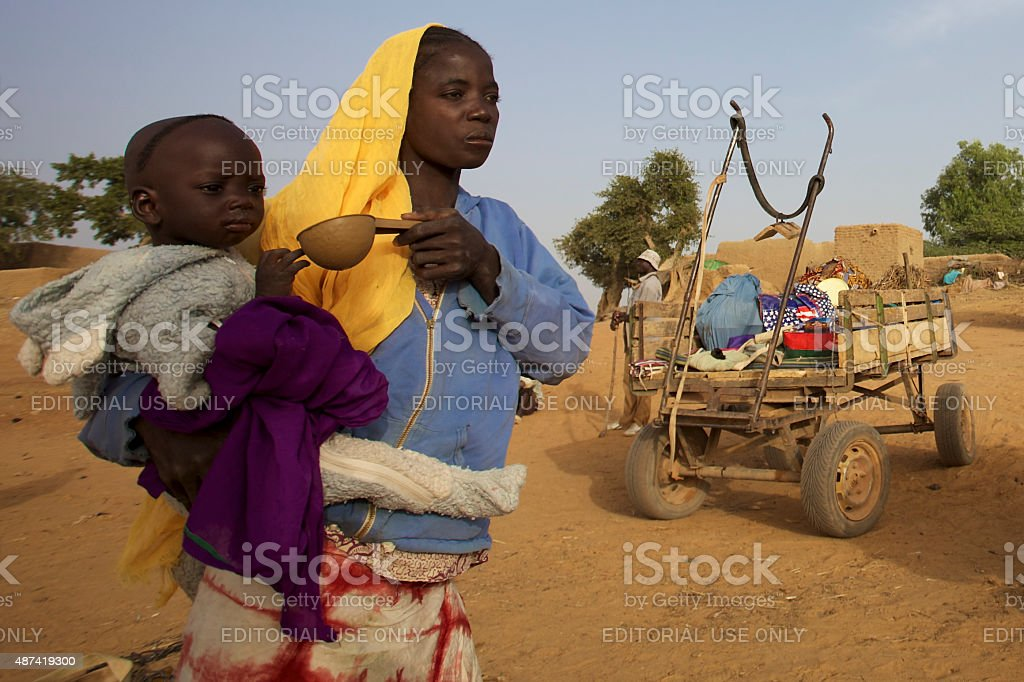 Poverty in Mali, Africa​​​ foto