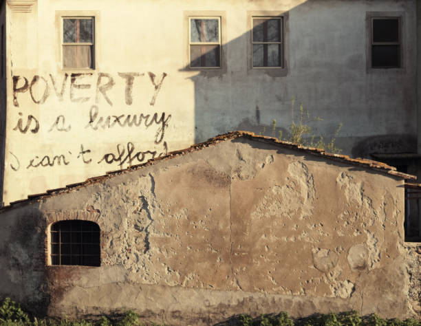 poverty is a luxury I cannot afford stock photo