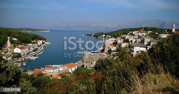 Wide look on Povlja, small village on Island Brac.