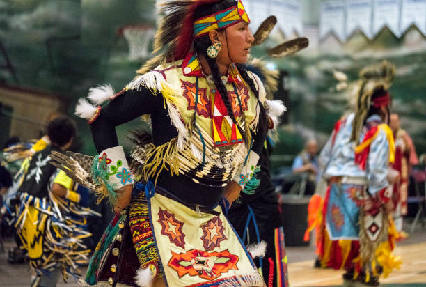 Pow Wow Showcasing Youth & Talent stock photo