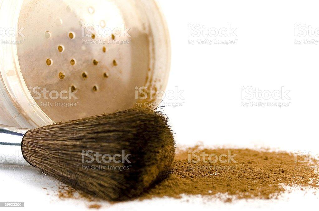 powder and brush royalty-free stock photo