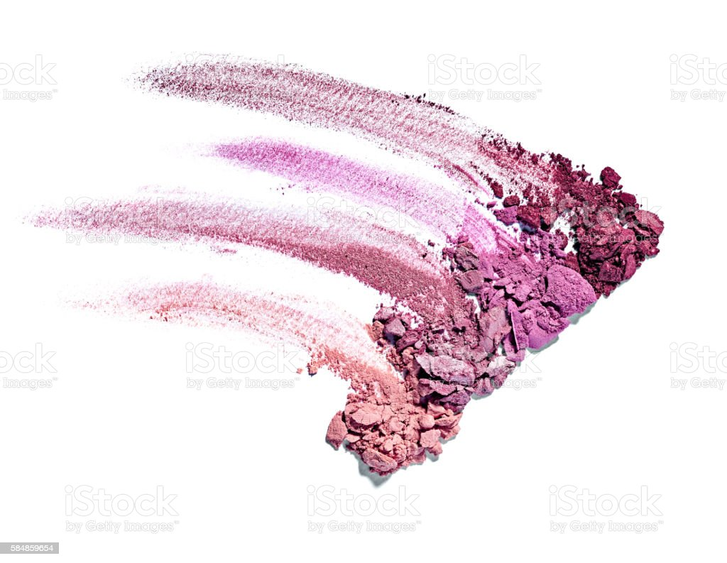 powder brush make up beauty stock photo
